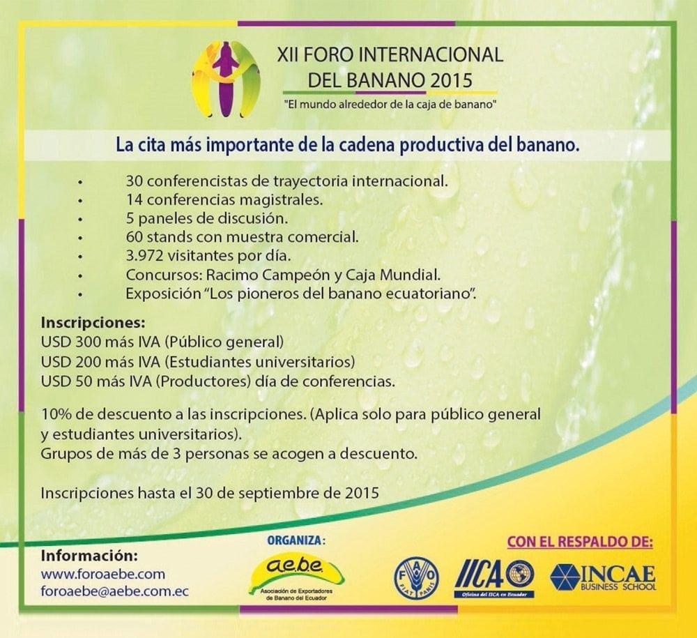 2015 XII Foro Internacional del Banano 2015